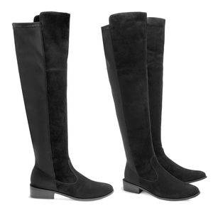 Chico's Roxee Suede Knee-High Boots Size 8